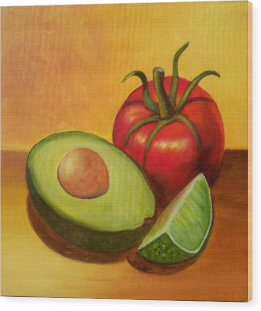 Think Guacamole - Sold Wood Print