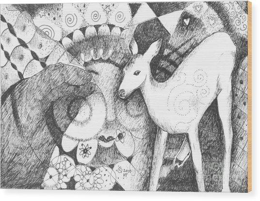 Thinking Of Mary Wood Print