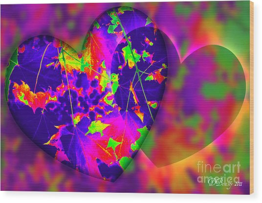 This Hearts For You Wood Print