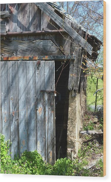 This Old Barn Door Wood Print