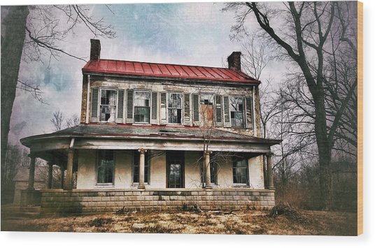 Wood Print featuring the photograph This Old House by Al Harden