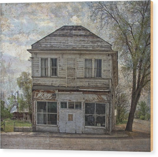 Wood Print featuring the photograph This Old Store by Thom Zehrfeld