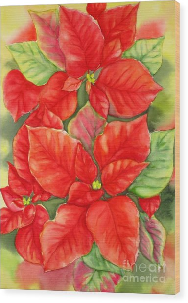 This Year's Poinsettia 1 Wood Print