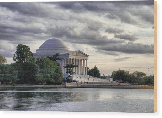 Thomas Jefferson Memorial Wood Print by Gene Sizemore