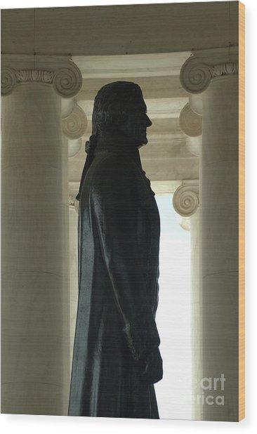 Thomas Jefferson Statue Wood Print