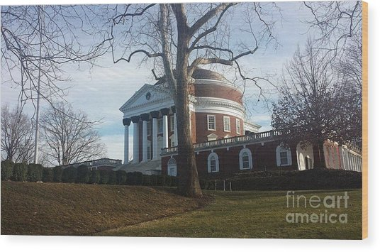 Thomas Jefferson's Rotunda Wood Print