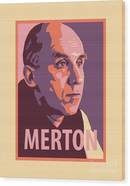 Thomas Merton - Jltme Wood Print