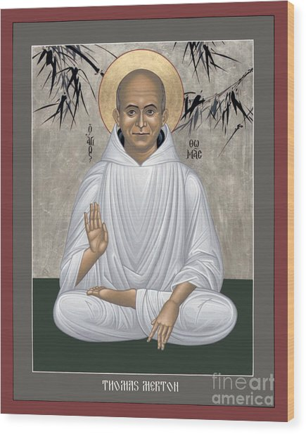 Thomas Merton - Rltmr Wood Print