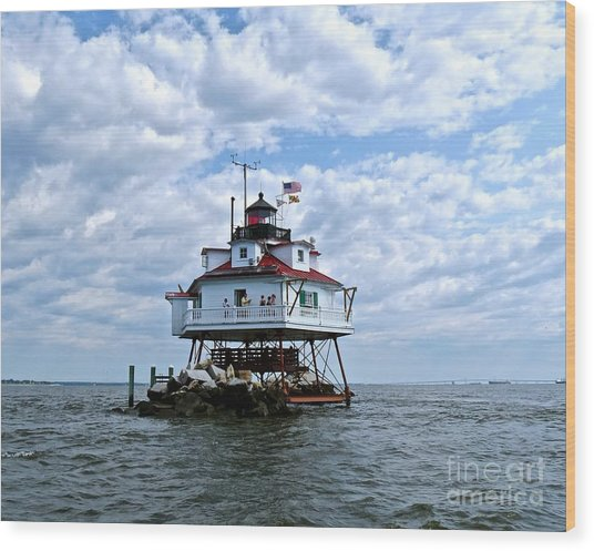 Thomas Point Lighthouse Wood Print