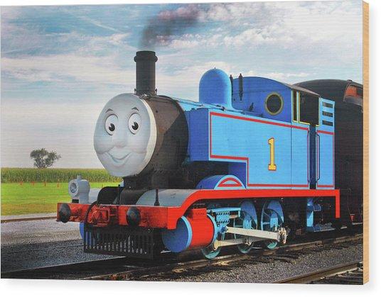 Thomas The Train Wood Print