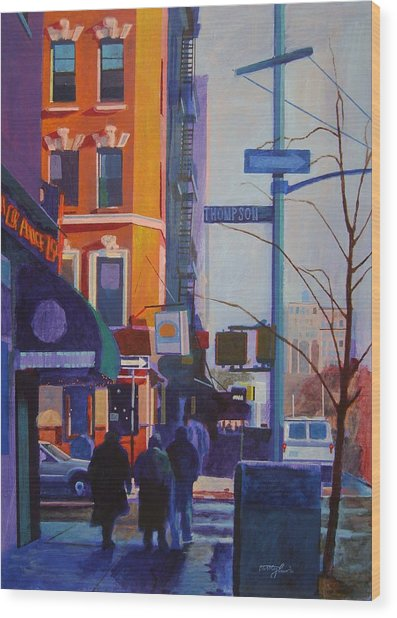 Thompson Street Wood Print by John Tartaglione