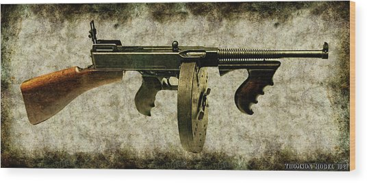 Thompson Submachine Gun 1921 Wood Print