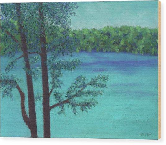 Thoreau's View Wood Print