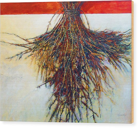 Thorn Zia Wood Print by Dale  Witherow