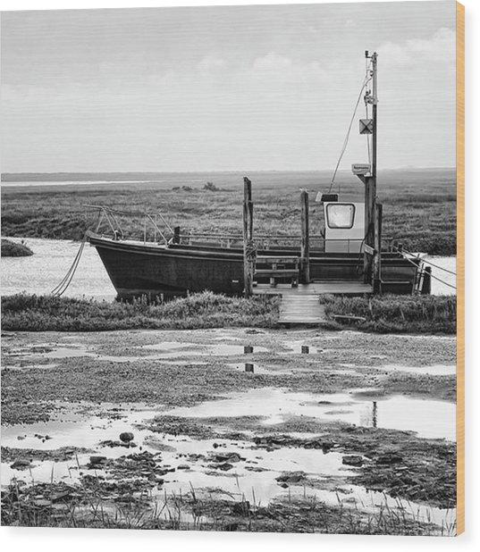 Thornham Harbour, North Norfolk Wood Print
