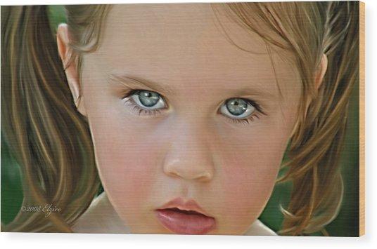 Those Eyes Wood Print by Elzire S