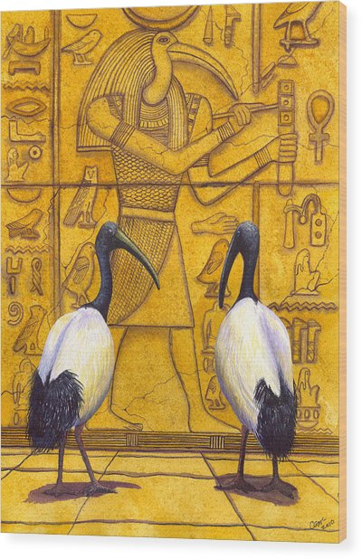 Thoth Wood Print