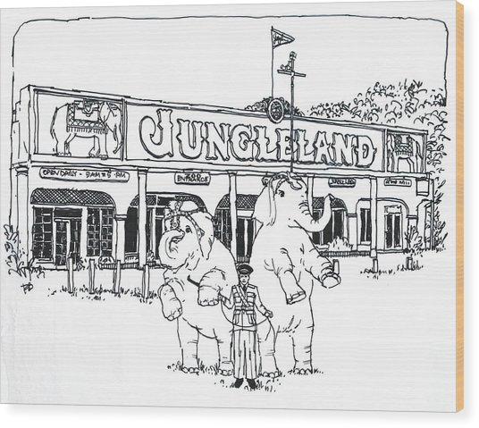 Thousand Oaks Ca Jungleland Wood Print