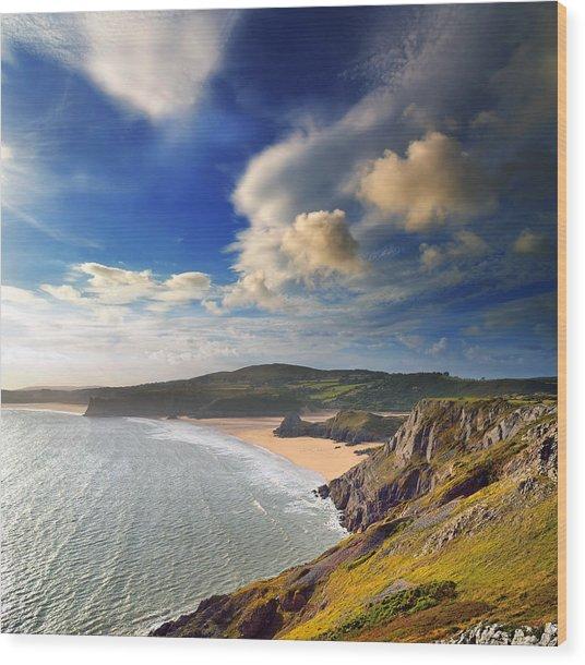 Three Cliffs Bay 1 Wood Print