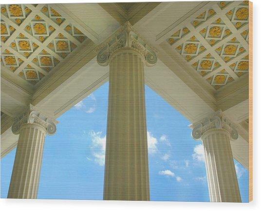 Three Columns Wood Print by Dan Holm