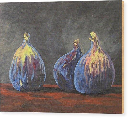 Three Figs Wood Print