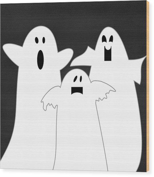 Three Ghosts Wood Print