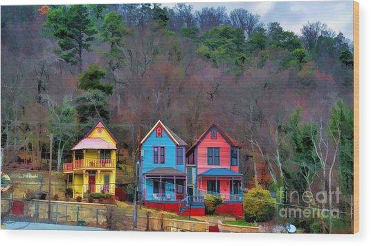 Three Houses Hot Springs Ar Wood Print