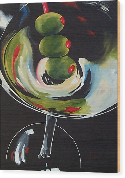 Three Olive Martini IIi  Wood Print by Torrie Smiley
