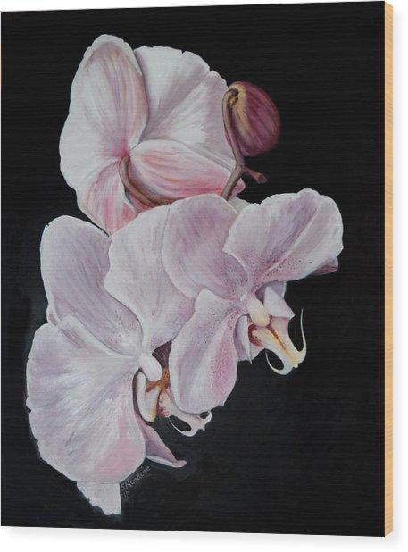 Three Orchids Wood Print