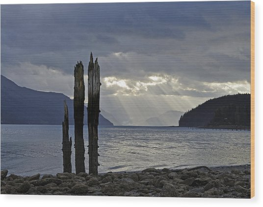Three Remain Wood Print