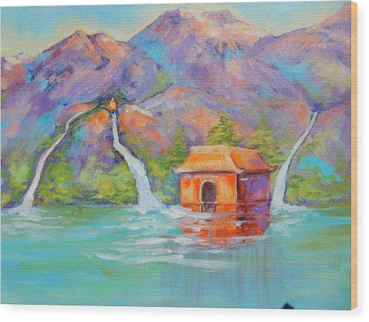Three Sacred Waters Wood Print
