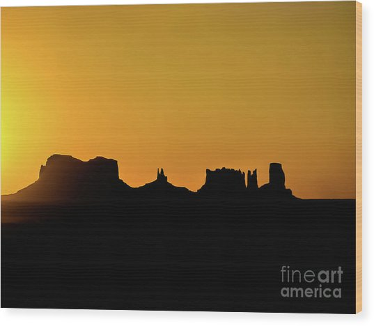 Three Sisters Backlight Wood Print