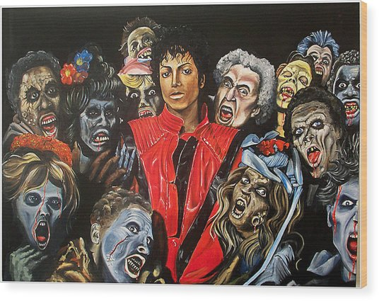 Thriller Wood Print by Jeremy Worst