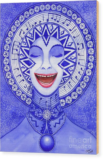 Throat Chakra Wood Print by Catherine G McElroy