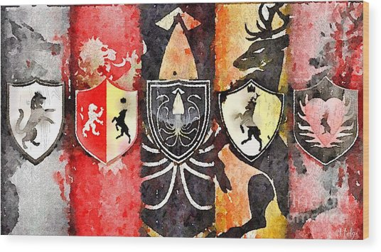 Thrones Wood Print