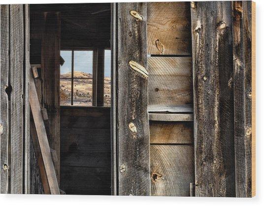 Through Cabin Window Wood Print