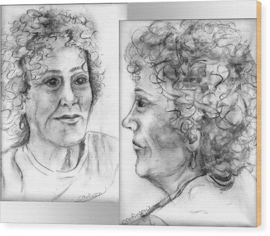 Through Her Eyes Wood Print by Carol Allen Anfinsen
