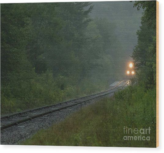 Through The Fog Wood Print