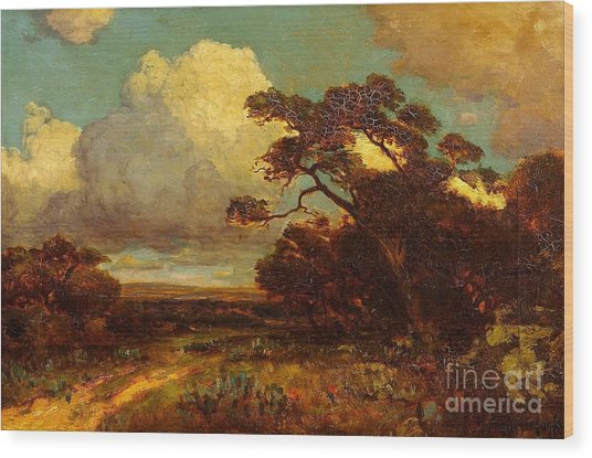 Through The Hills In Southwest Texas 1911 Without Border Wood Print