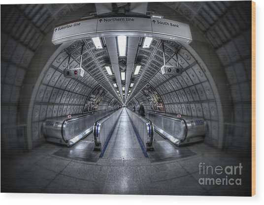 Through The Tunnel Wood Print