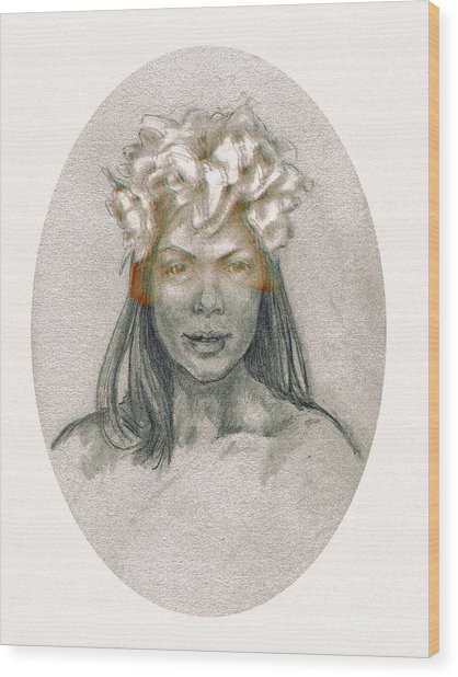 Through The Veil Wood Print