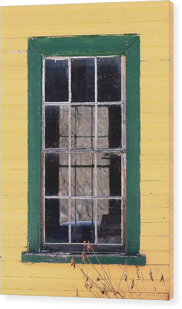 Through The Windows Wood Print