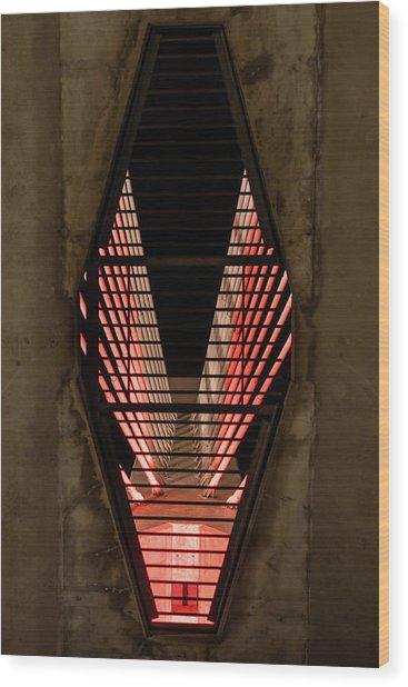 Through The Zakim Wood Print