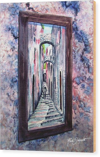 Thru The Looking Glass Wood Print by Ruth Bodycott