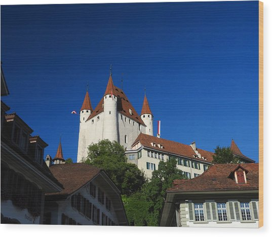 Thun Castle Wood Print