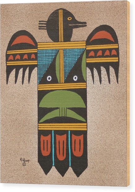 Thunder Bird #2 Wood Print