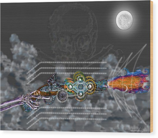 Thunder Gun Of The Dead Wood Print