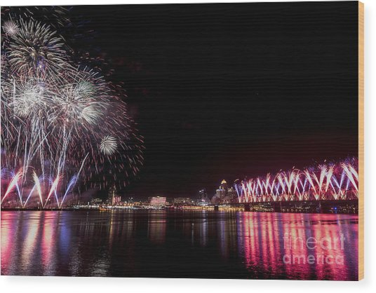 Thunder Over Louisville Wood Print