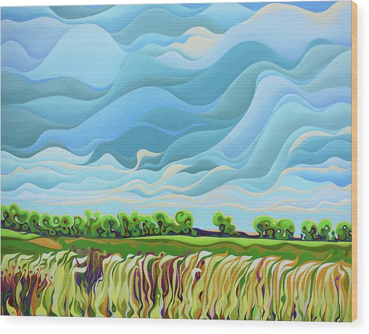 Thunder Sky Wood Print