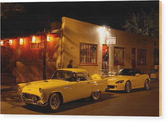Thunderbird On The Street Wood Print
